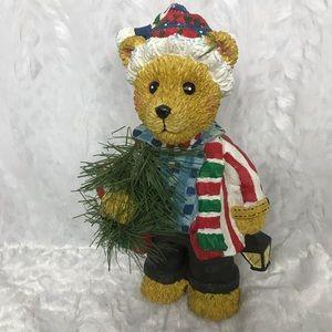 Other - Christmas Teddy Bear Decor with Wreath and Lantern